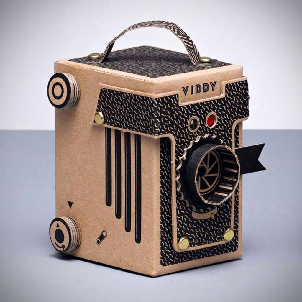 дешевый картонный фотоаппарат рисунок можно изготовить