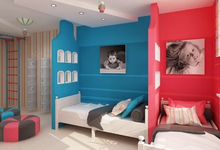 детская комната для двух детей фото