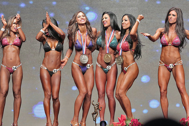 Bikini fitness girls model contest