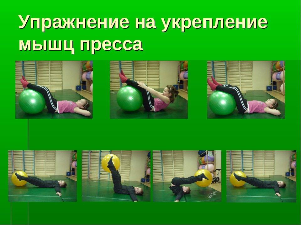 Упражнения с картинками для укрепления мышц живота
