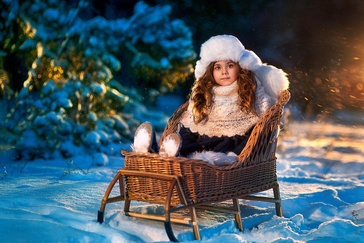 начале зимние фото с детьми время выуживания