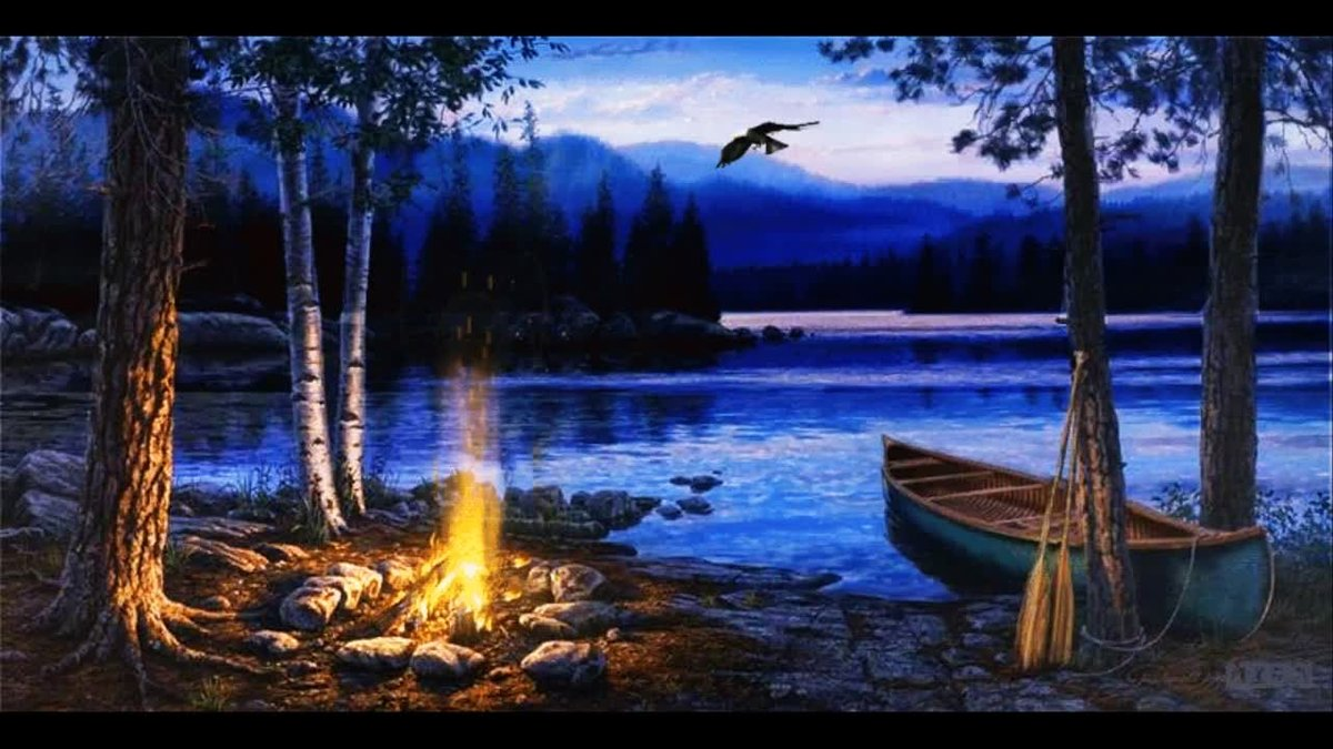 На озере картинки анимация