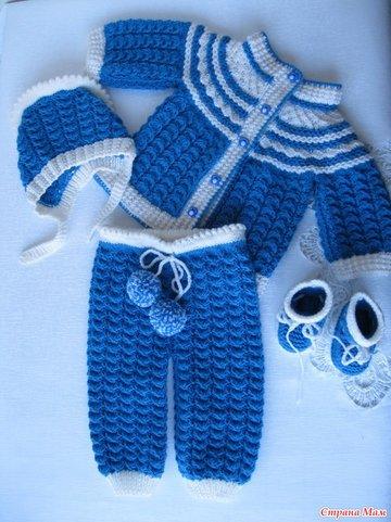 детский костюмчик вязаный спицами рукоделие вязание Pi