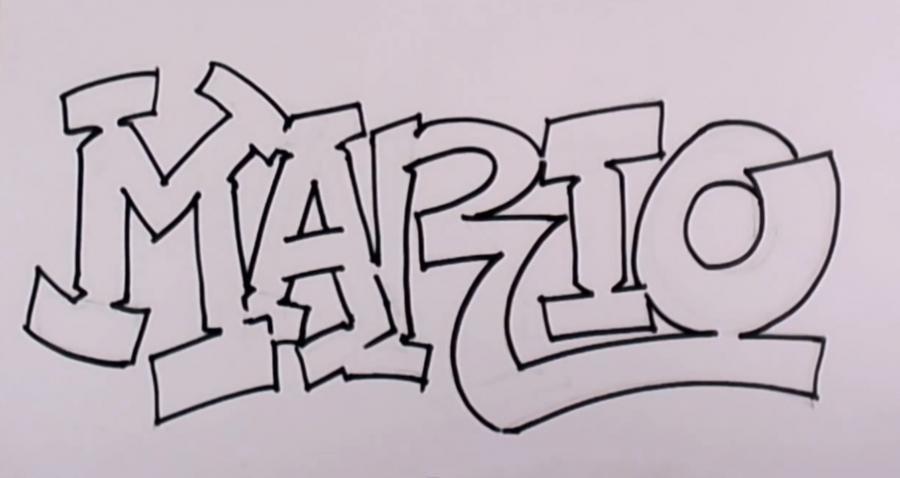 Легкие картинки граффити карандашом