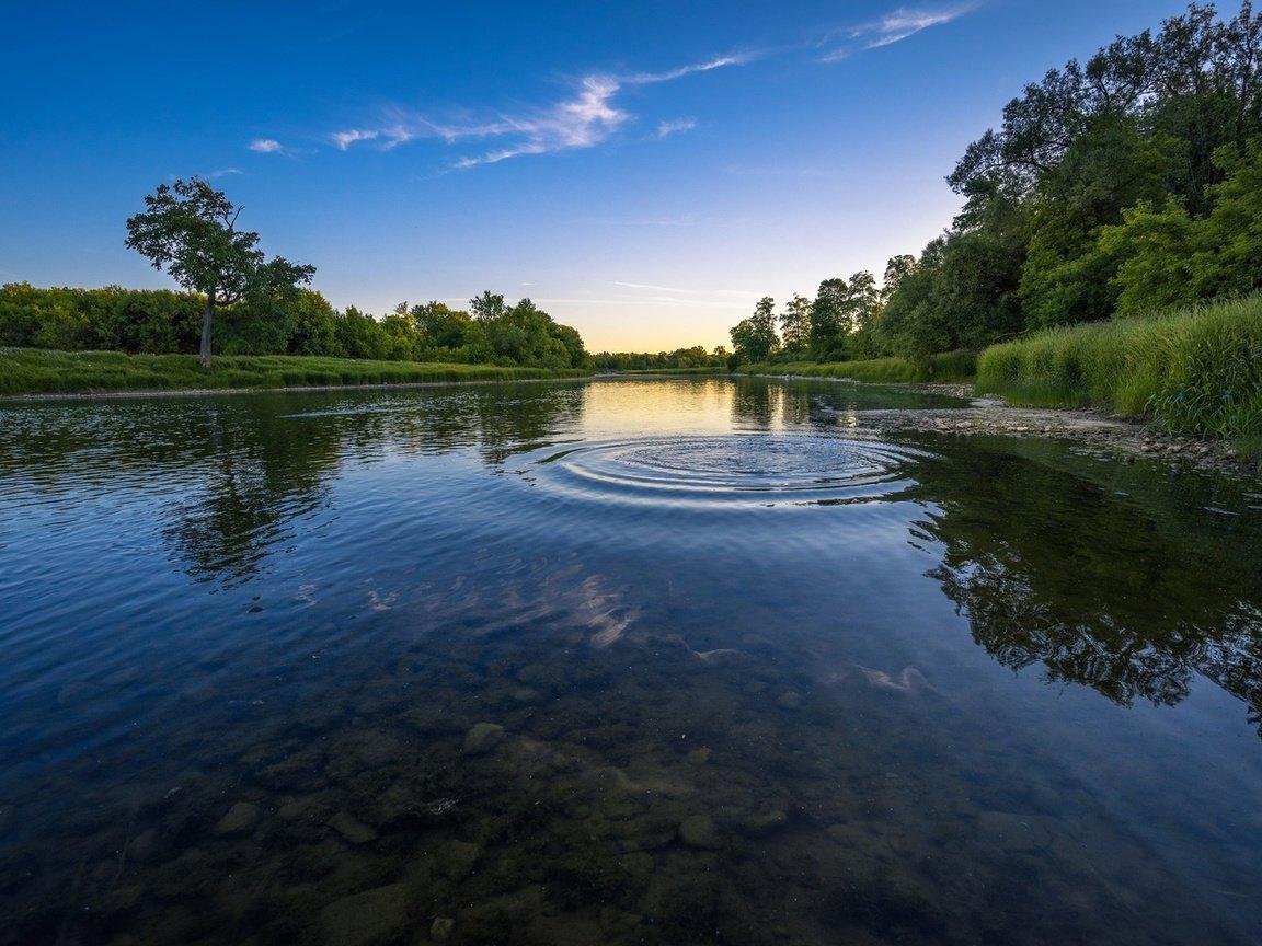 Открытки добрым, картинка чистая река