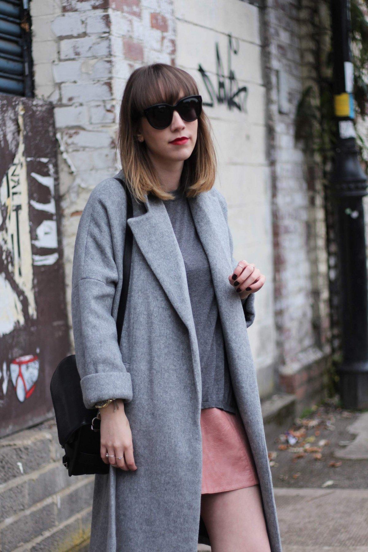 6375d2fc2c coat: Zara | jumper: Zara | skirt: Zara | boots: Zara | bag: Proenza ...