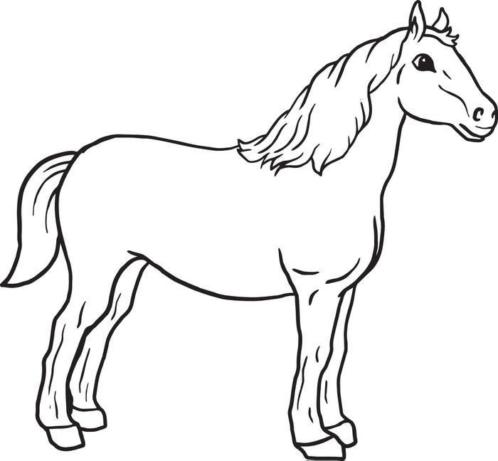 Картинки для раскраски лошадь