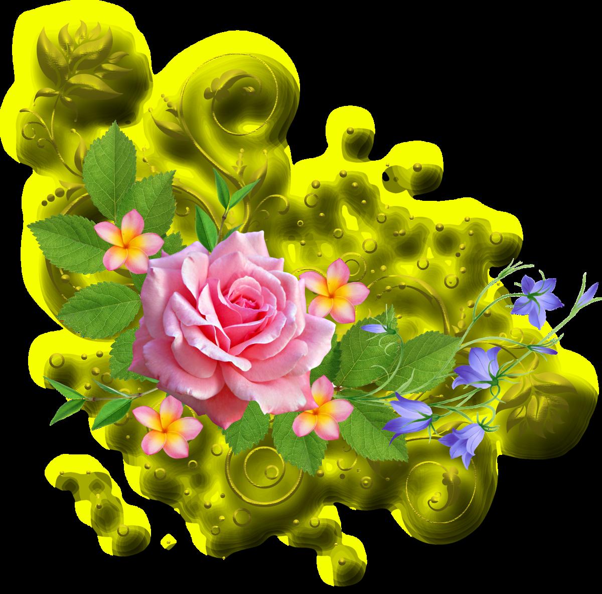 Открытка виньетки из цветов, юбилей своими руками