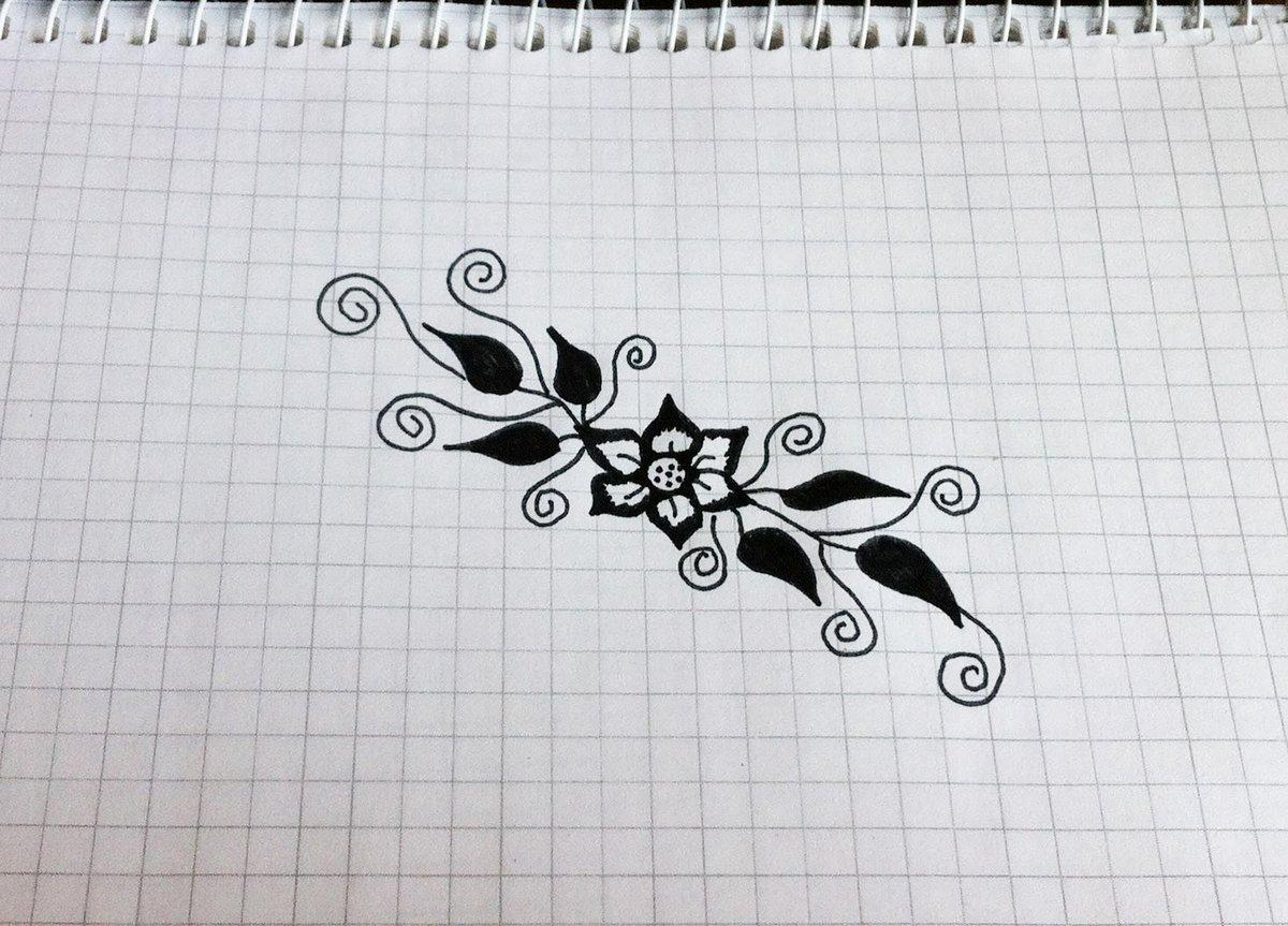 Картинки карандашом узоры