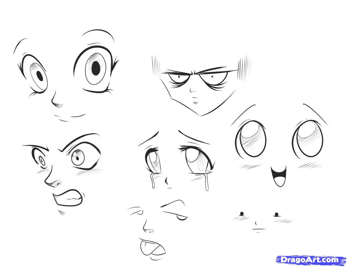 Картинки рисовать аниме поэтапно карандашом