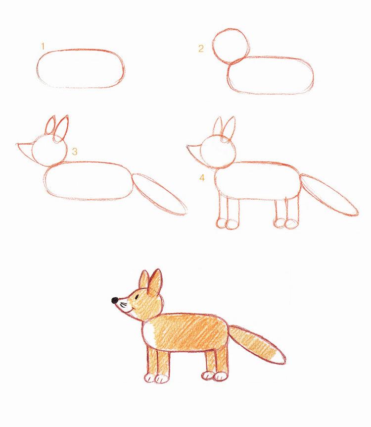 как рисовать лису картинки название