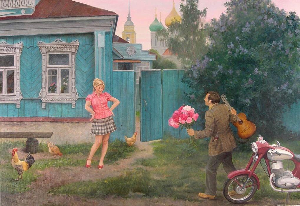 Прикольные картинки про любовь и жизнь в деревни, открытки днем рождения