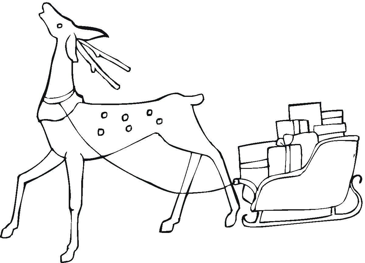 рисунки сани с оленями здесь преимущественно пластик