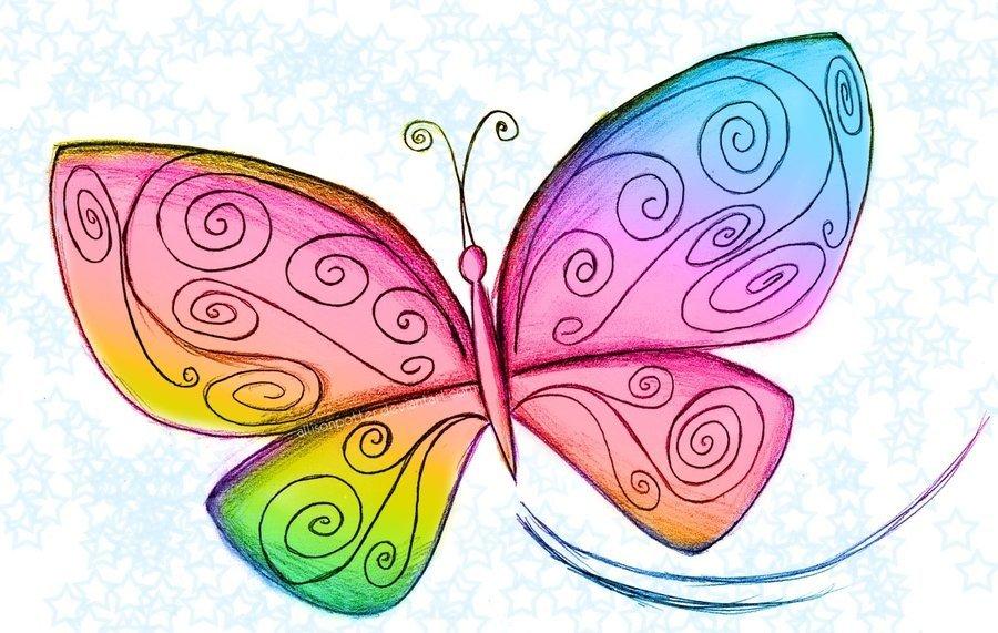 Картинки для детей рисованные бабочка, поздравления