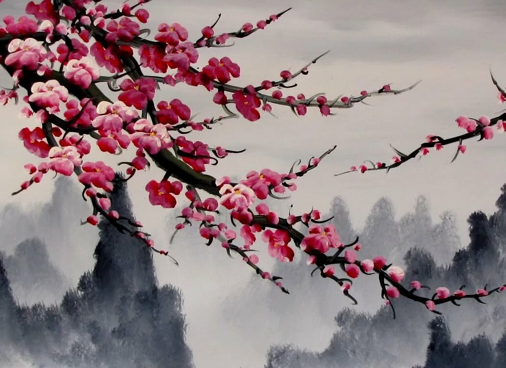 покупаете японские картинки ветки вишни реалии фотографии