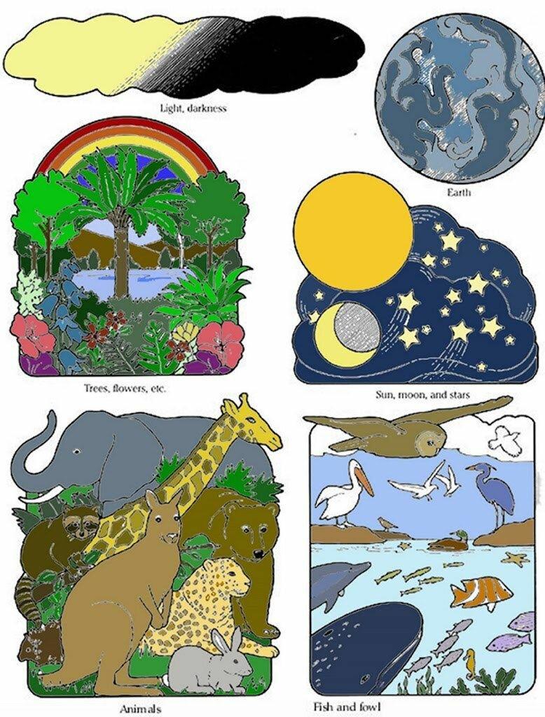 Сотворение мира картинки для детей