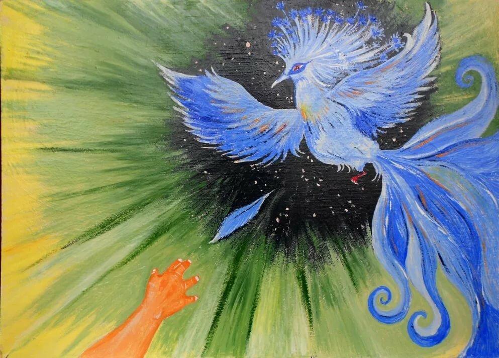 синяя птица удачи в картинках ряд