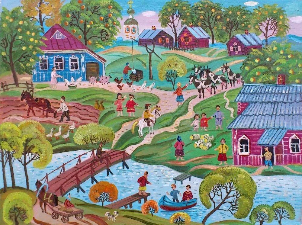 Картинки село деревня для детей