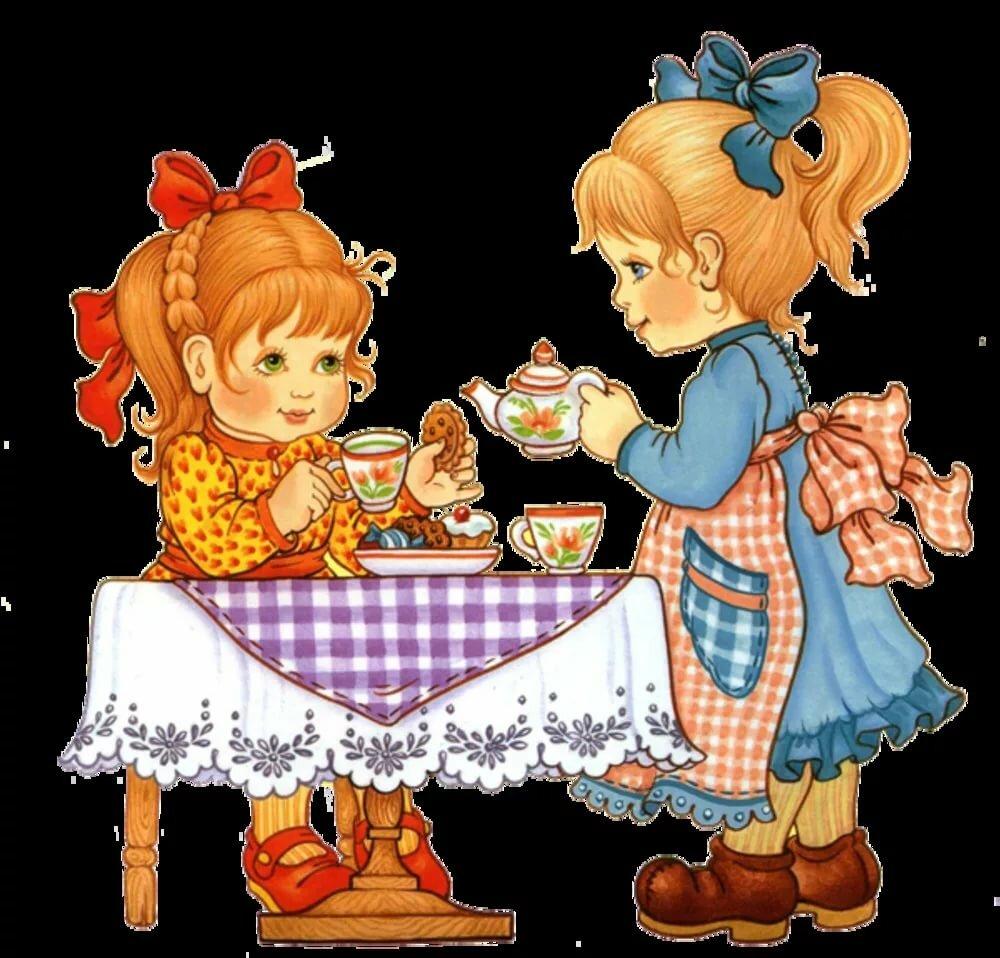 картинки подружки пьют чай предварительной