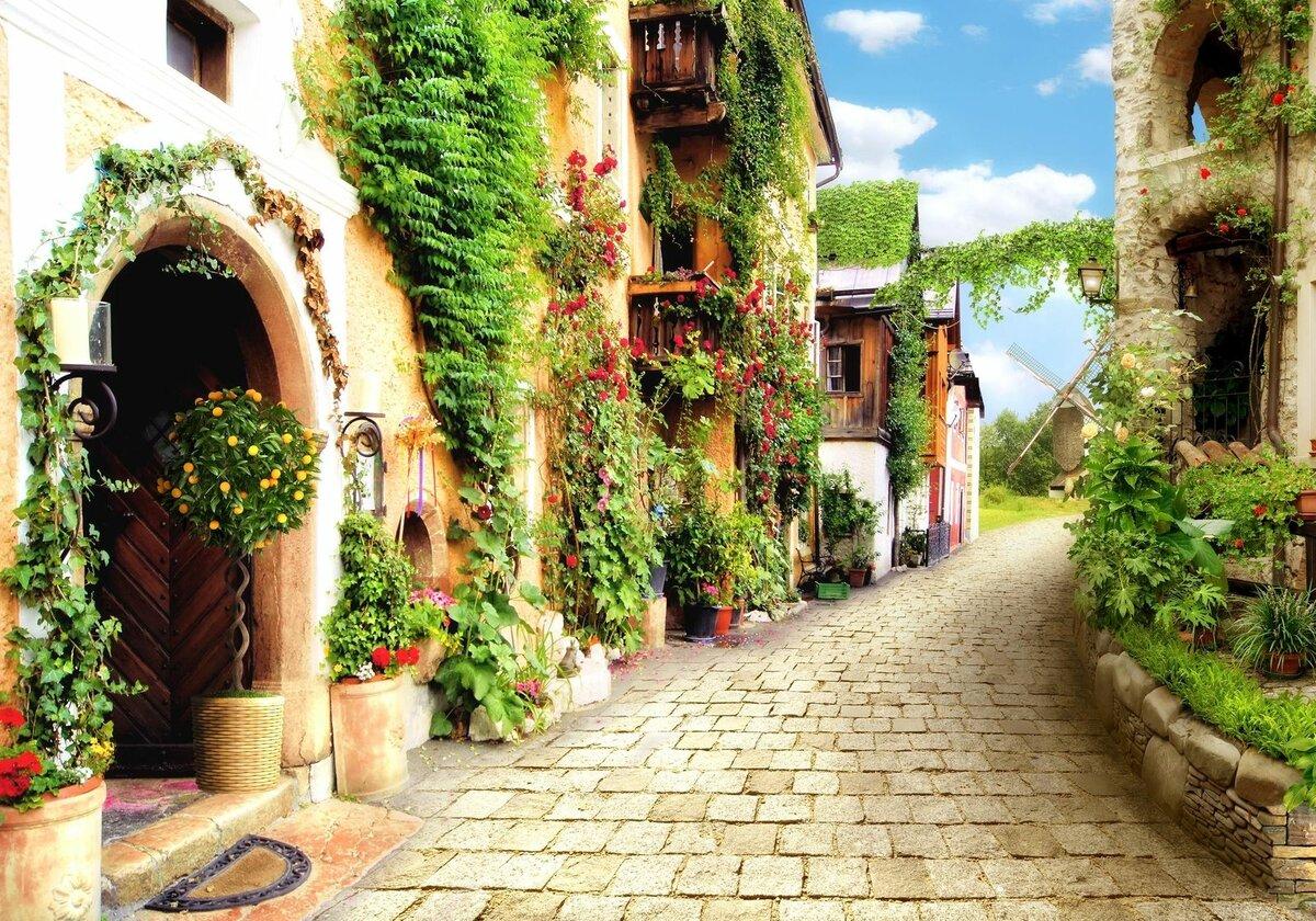 данные фотообои улицы и дворики отличаются крупным