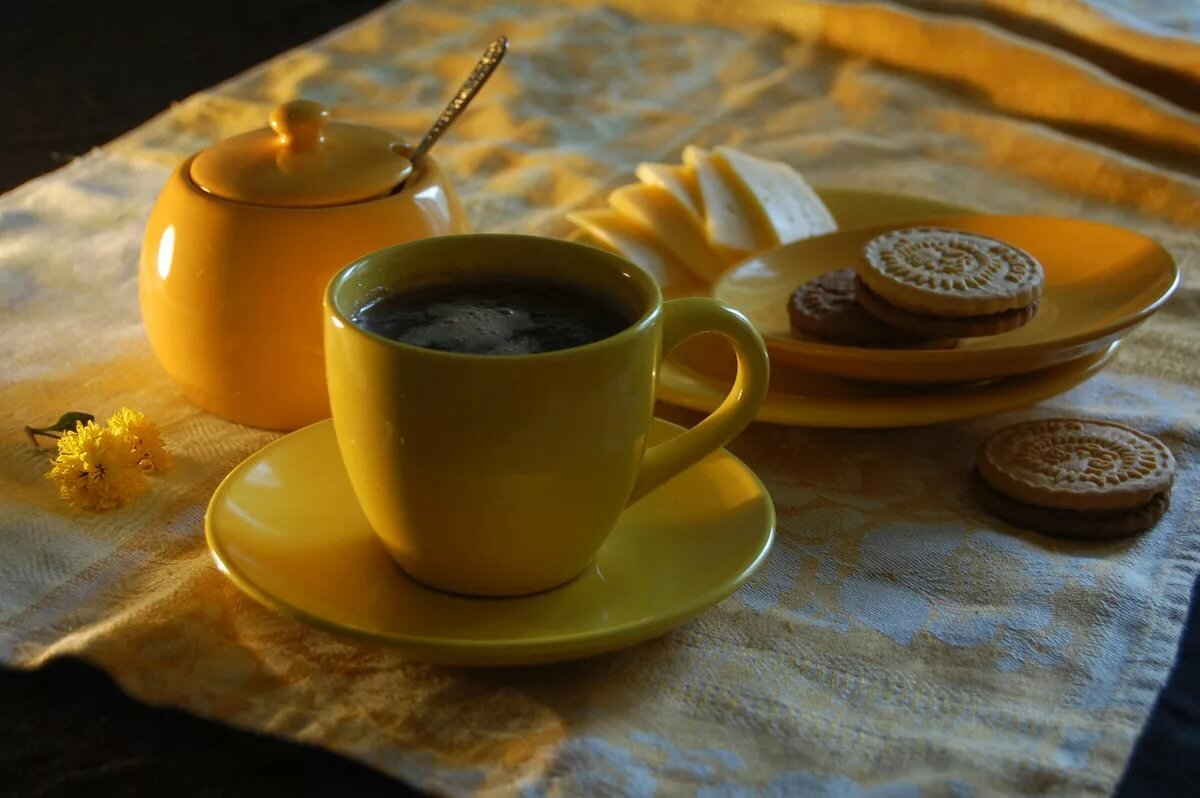 Картинка с добрым утром чай кофе