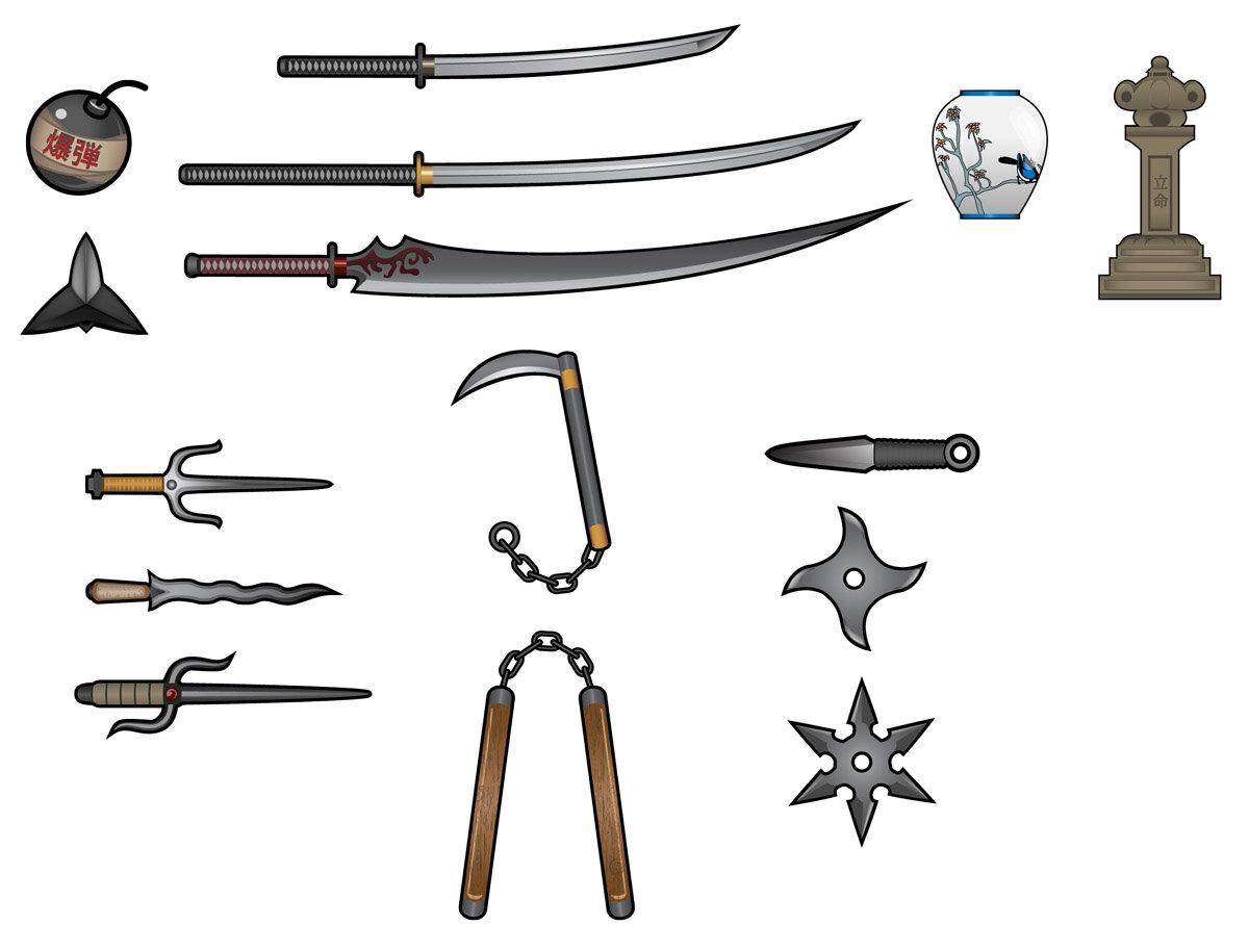 Ниндзя оружие в картинках