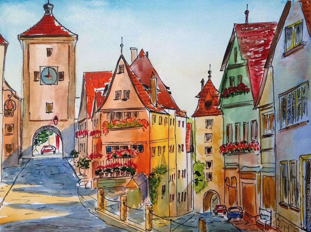 Рисунок картинка города
