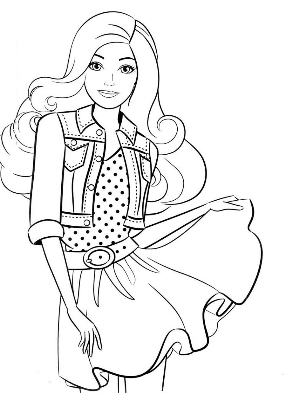 «Раскраска Барби в молодёжном стиле Раскраски барби для ...