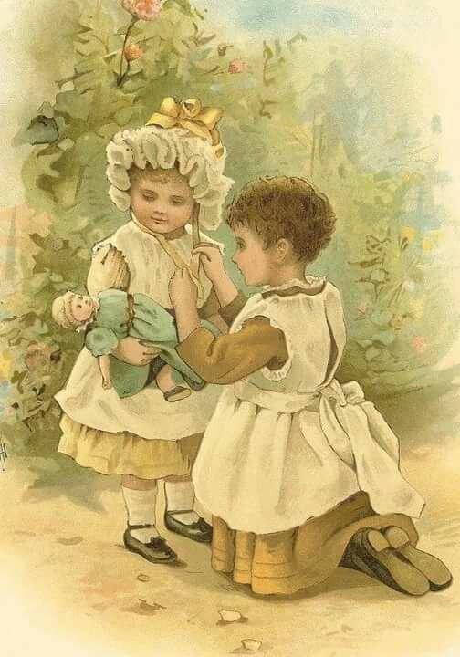 Дети ретро открытки