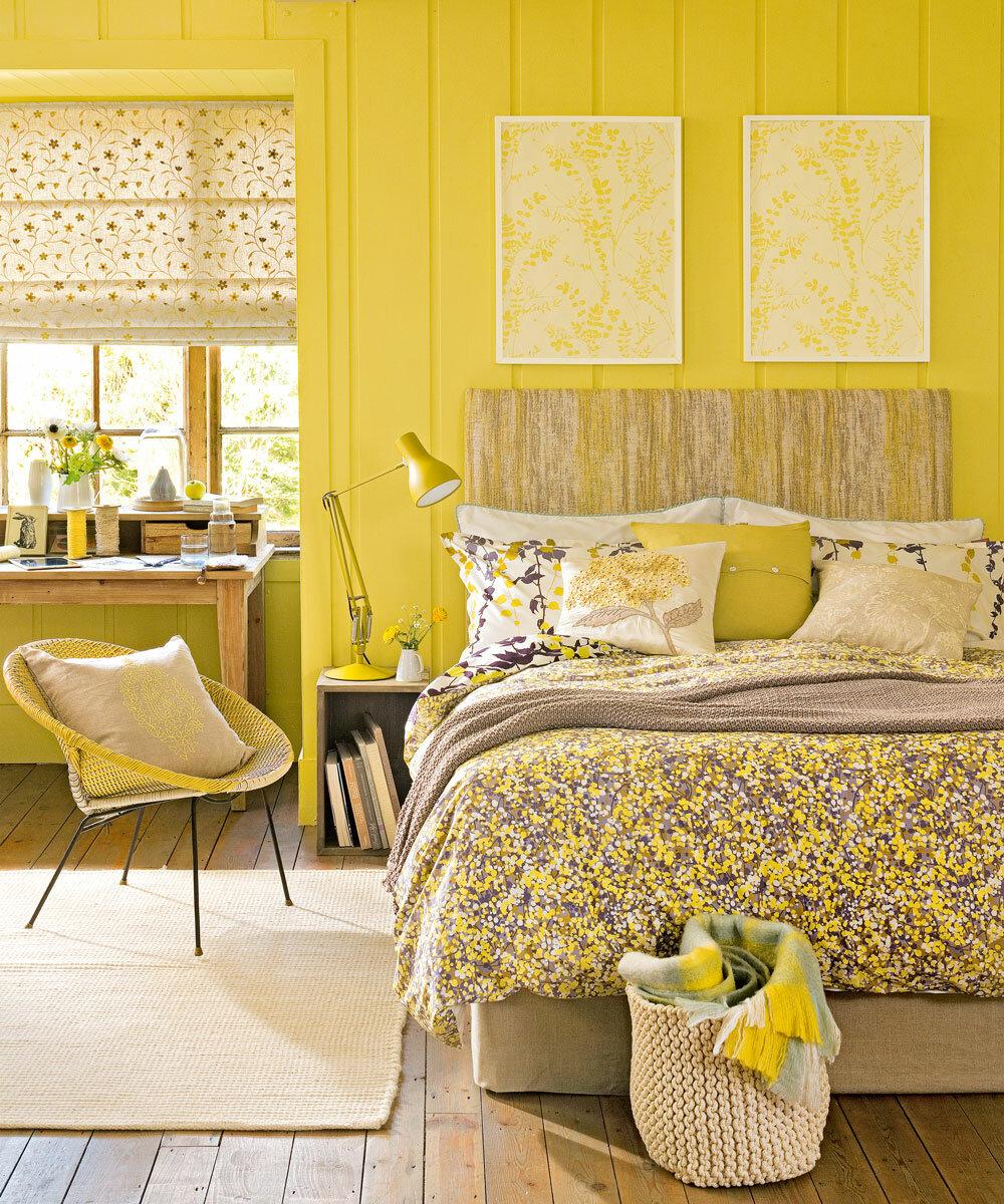 без комната в желтом стиле картинки доме