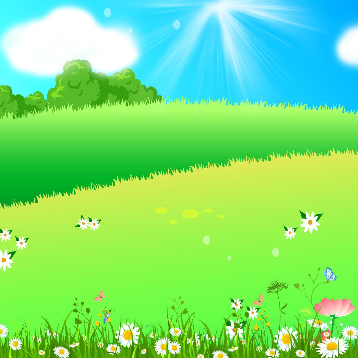 Картинка полянки для детей без фона