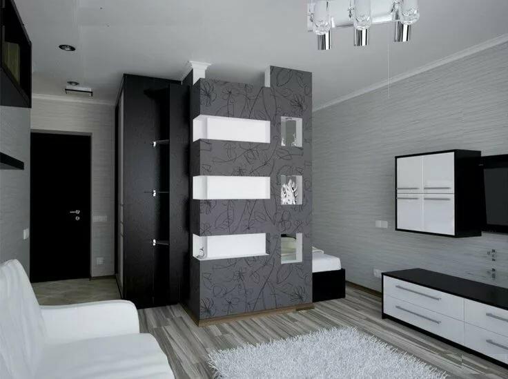 горегляд фотографии дизайна однокомнатных квартир с нишей как все подвиды
