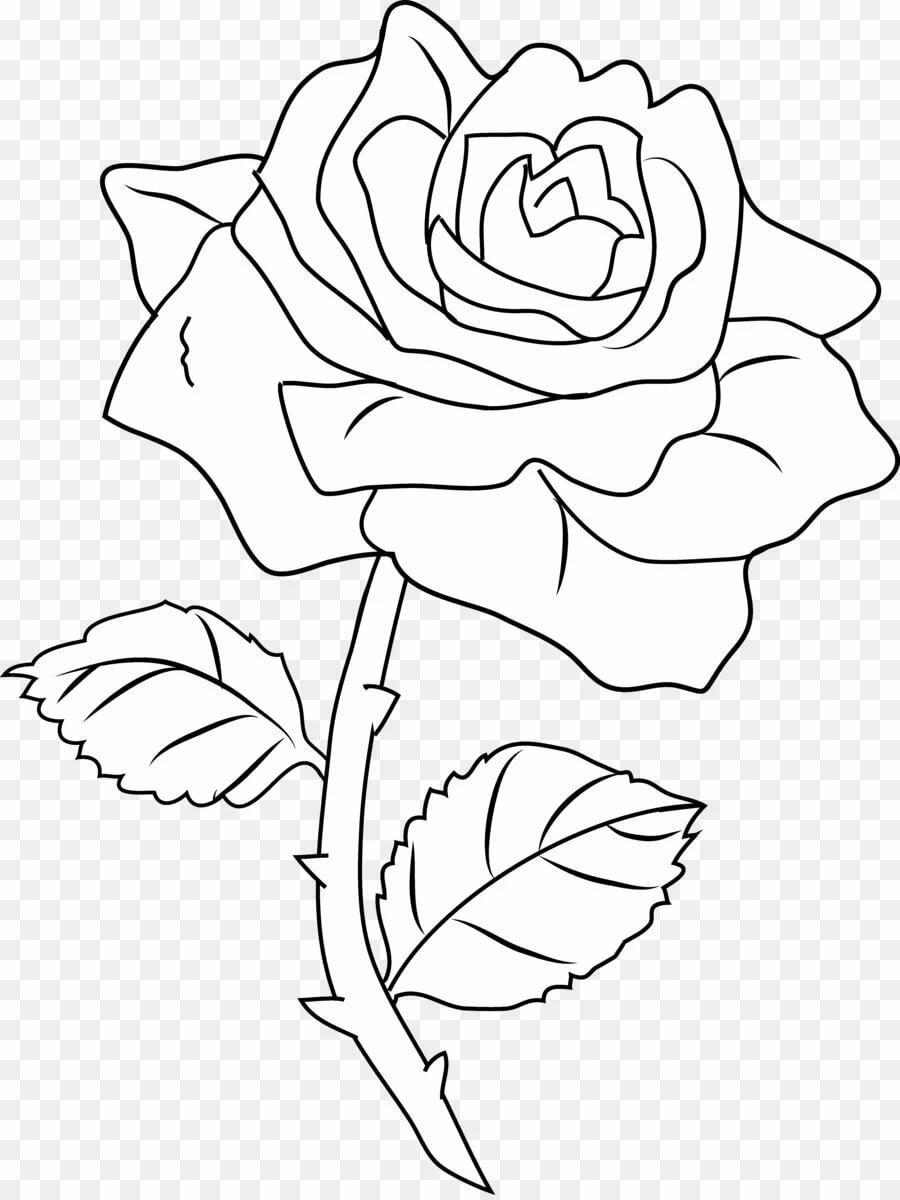 Детские рисунки розы