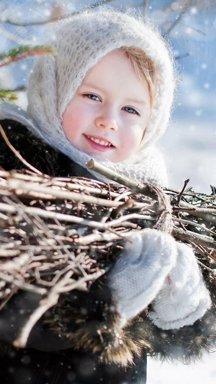 Картинка зима девочка