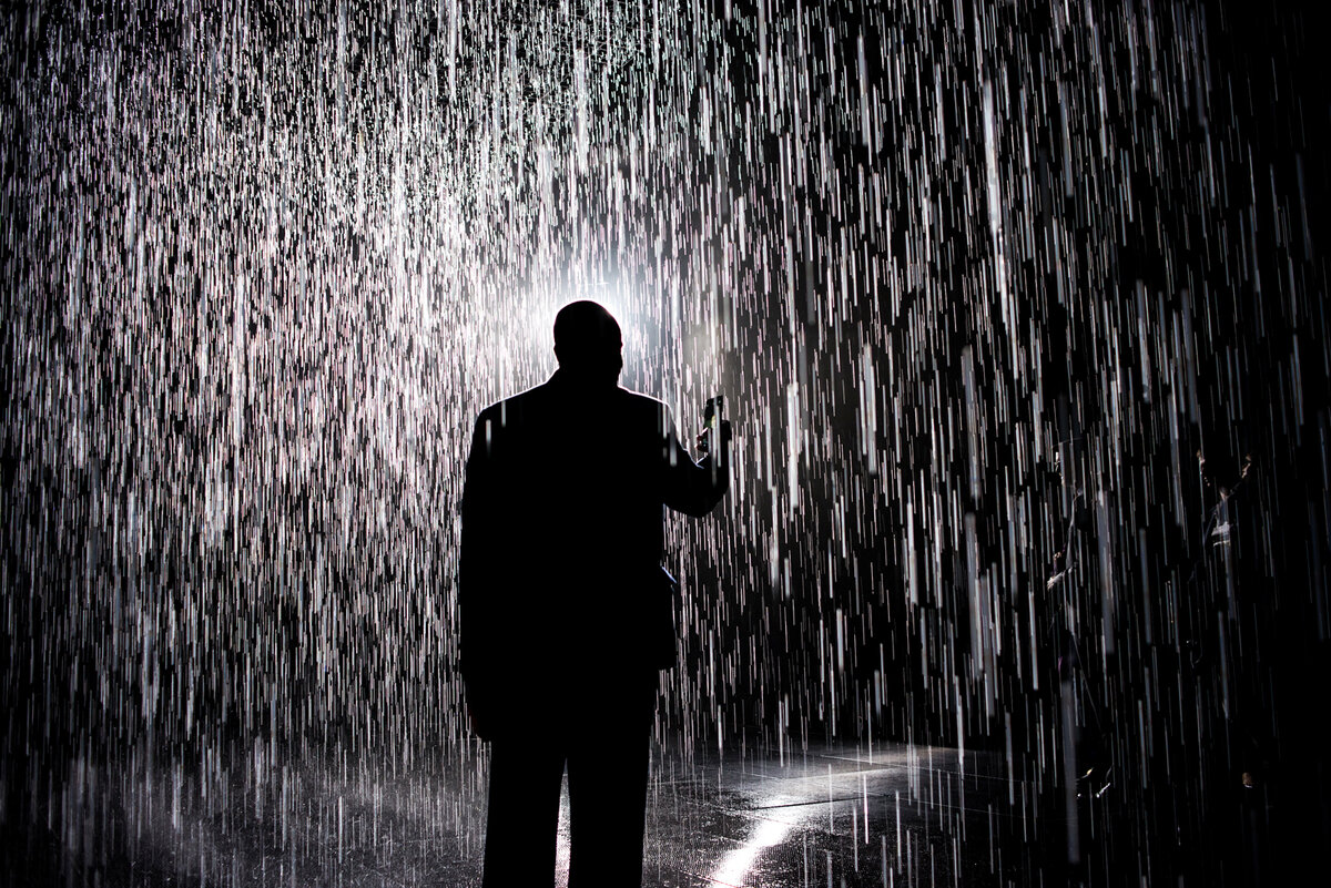 Картинка человек промок