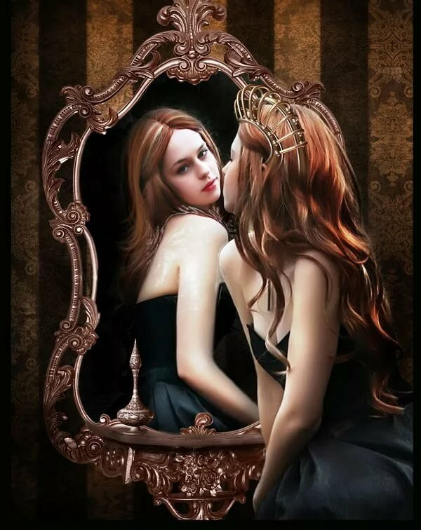 Ведьма в зеркале картинки