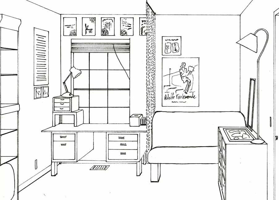 Картинки комнат чтобы распечатать