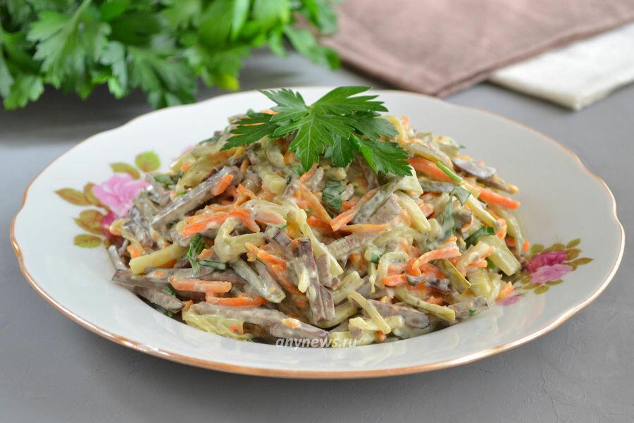 рецепт печеночного салата с фото последнее