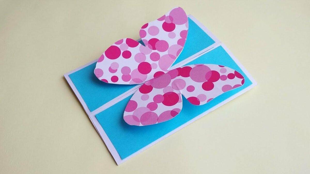 Поделки из бумаги открытки на день рождения