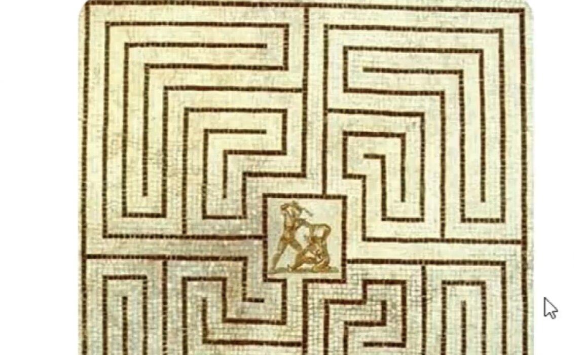 рисунки лабиринта из древней греции стал