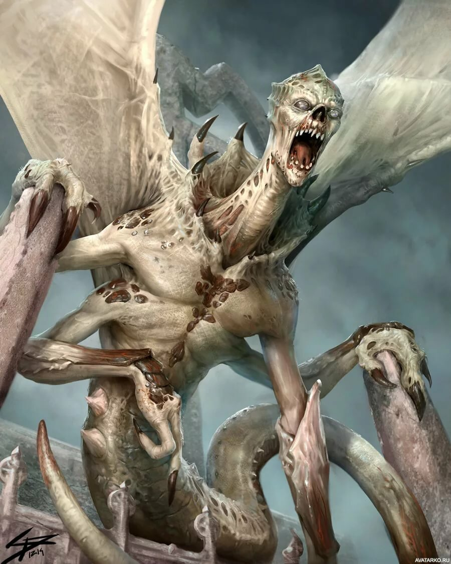 Картинки с страшными существами