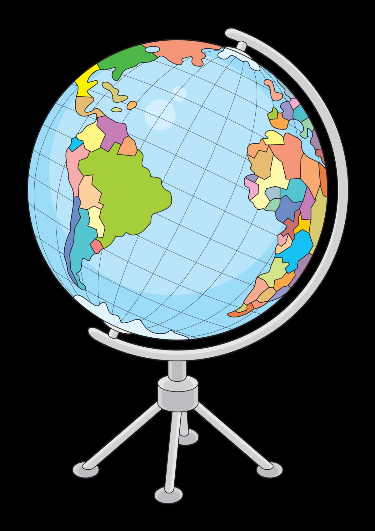 Глобус в картинках для детей