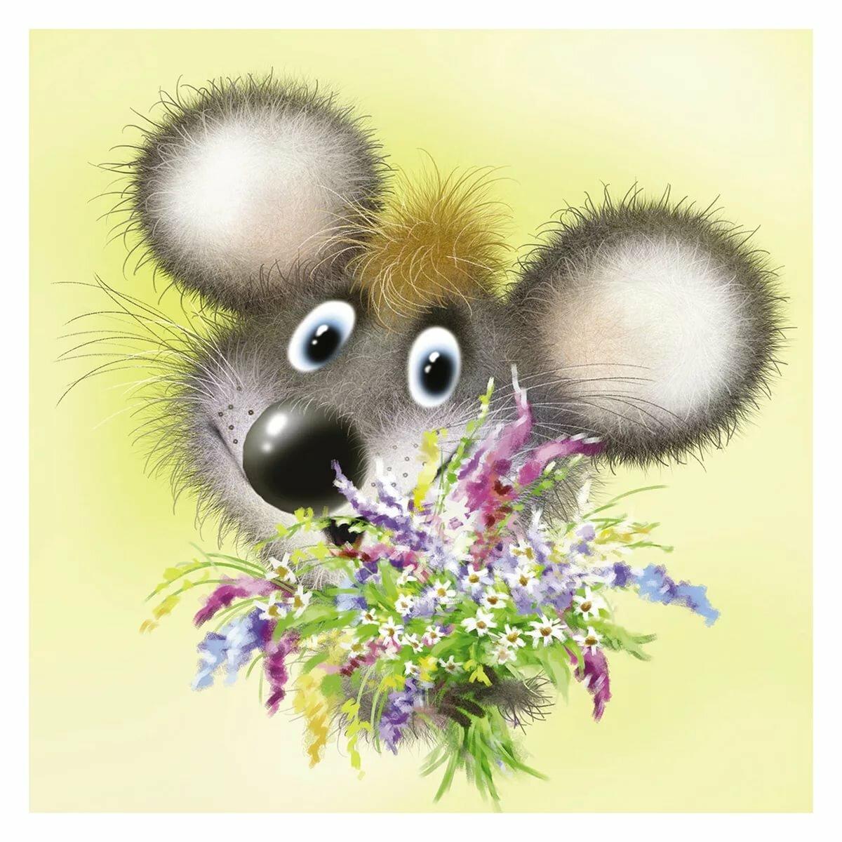 Картинки привет мышонок