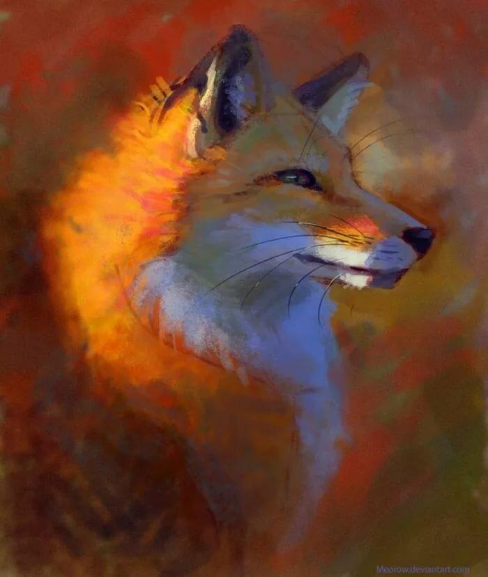 картинки арт лисичка