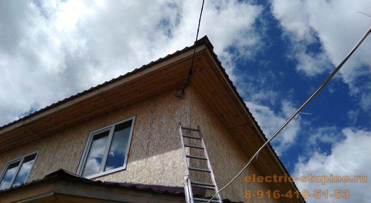 Монтаж электропроводки на даче вводной кабель