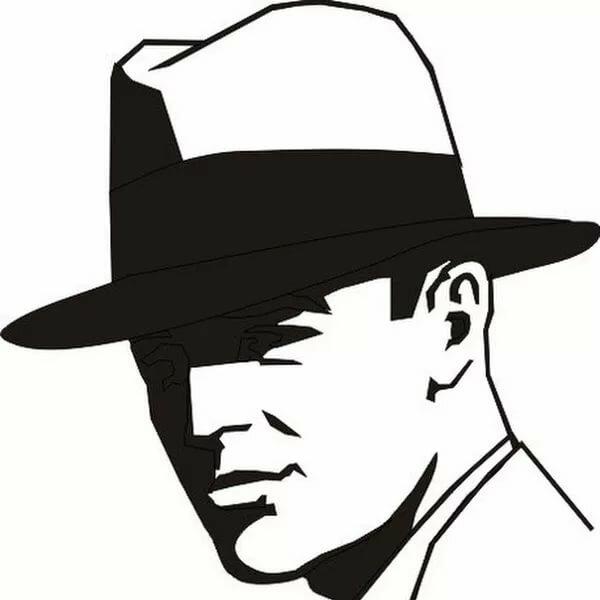 человек в шляпе картинки карандашом замаскированный под кролика