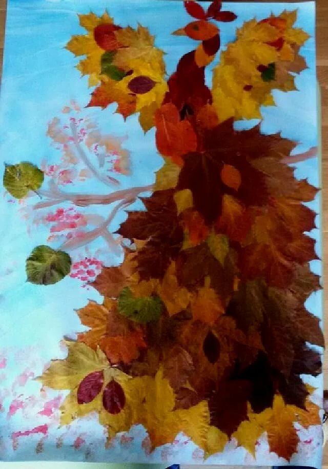 Картинки а4 формата краски осени из листьев