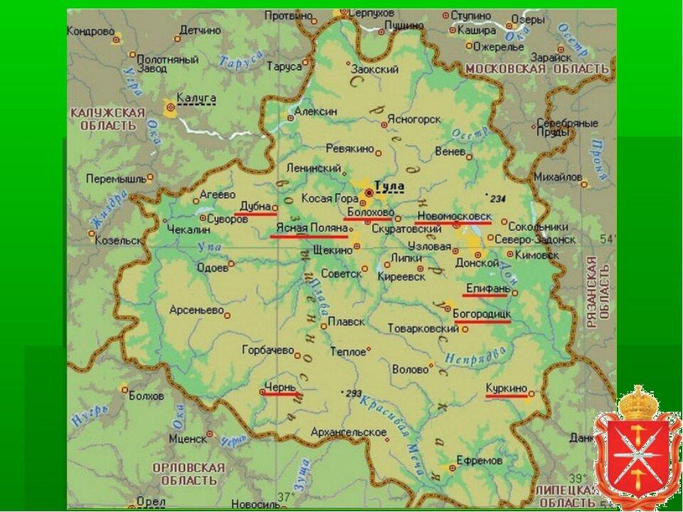 каждой, только тульская область на карте россии фото заре