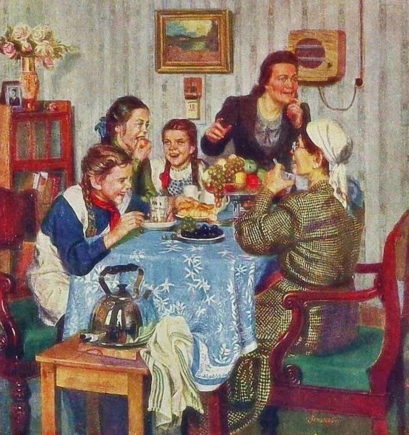 советский быт в картинах художников своей фотографии