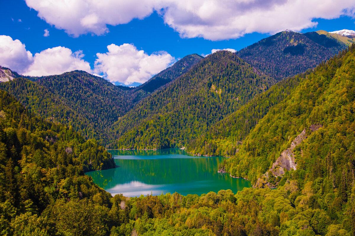 Озеро рица вид сверху фото